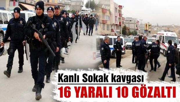 16 yaralı 10 gözaltı
