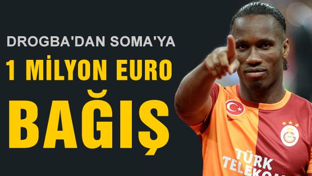 Drogba'dan Soma'ya rekor bağış