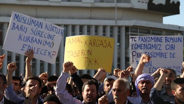 Mustazaflar Kürtler, PKK'ya tepki gösterdi