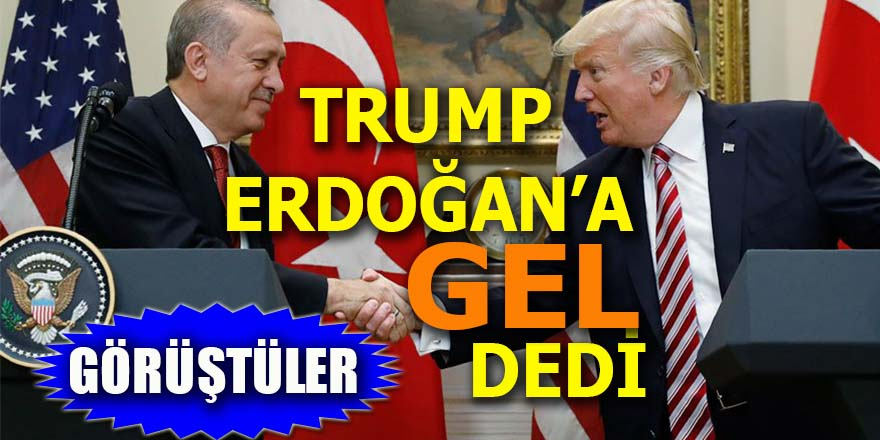 """Trump, Erdoğan'a ABD'ye """"gel"""" dedi"""
