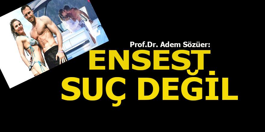 Prof.Dr Adem Sözüer: Ensest suç değil