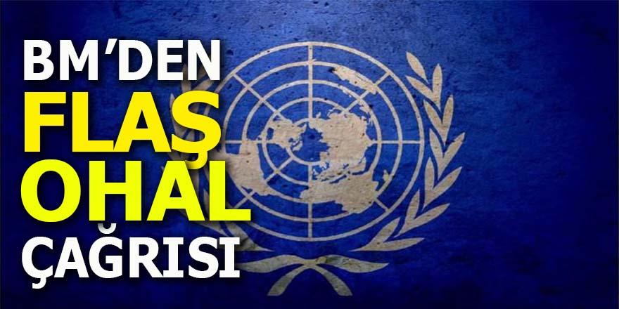 Birleşmiş Milletler'den Türkiye'ye flaş OHAL çağrısı