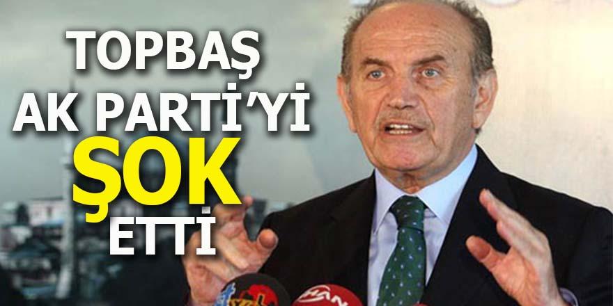 Topbaş AK Parti'yi şok etti