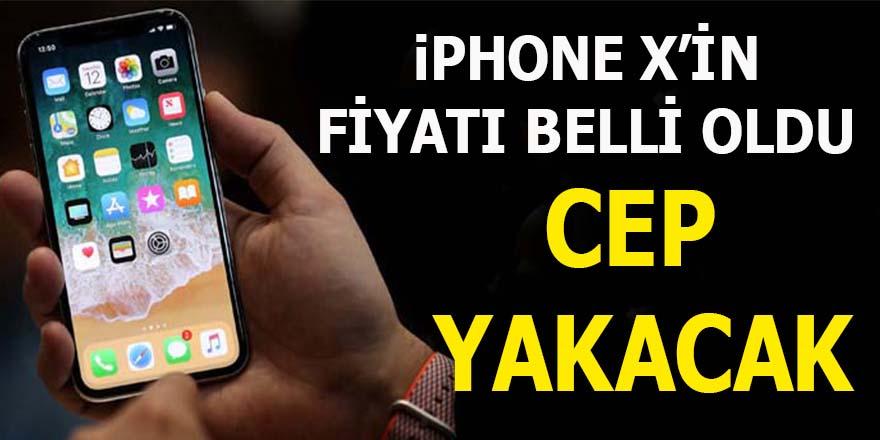 iPhone X'in fiyatı belli oldu