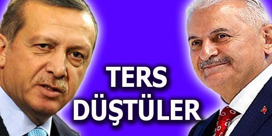 Erdoğan ve Yıldırım ters düştüler