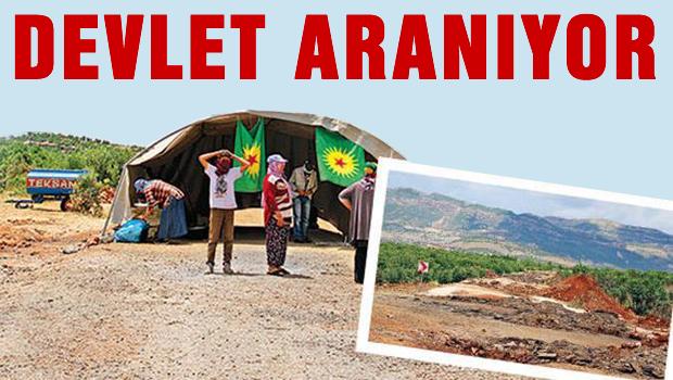 PKK, kapattığı yola çadır kurdu