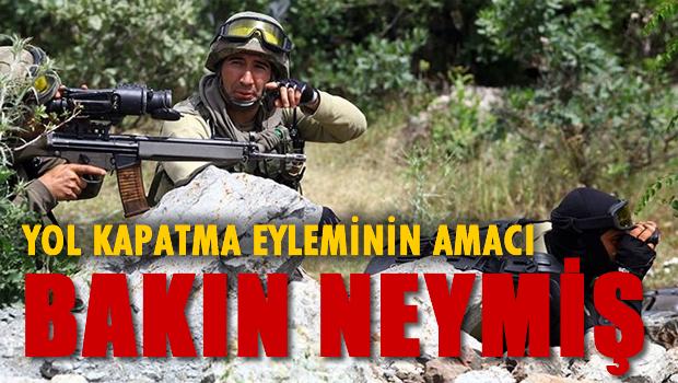PKK'nın yol kapatma eyleminin amacı ortaya çıktı