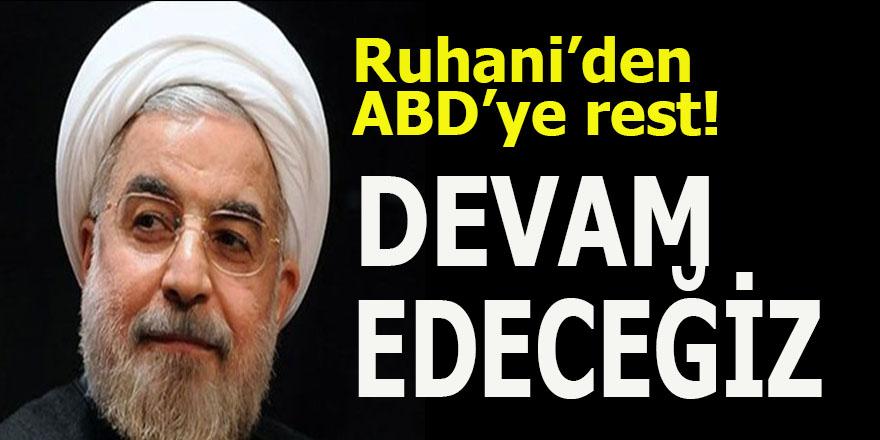 Ruhani'den ABD'ye: Füze üretmeye devam edeceğiz