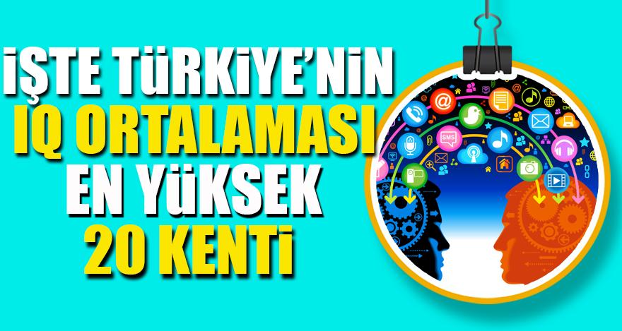 İşte Türkiye'nin IQ Ortalaması en yüksek 20 kenti