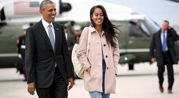 Obama'nın kızı öpüştü, ABD'de olay oldu