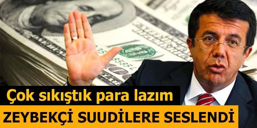 Zeybekçi Suudilere Seslendi: Çok sıkıştık para lazım