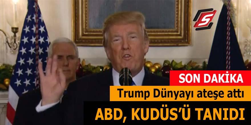 Trump dünyayı ateşe attı: ABD, Kudüs'ü tanıdı