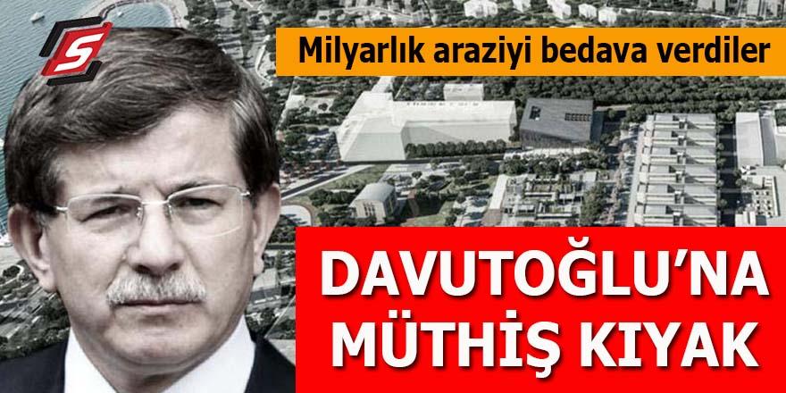 Davutoğlu'na müthiş kıyak: Devletin milyarlık arazisini bedava verdiler!