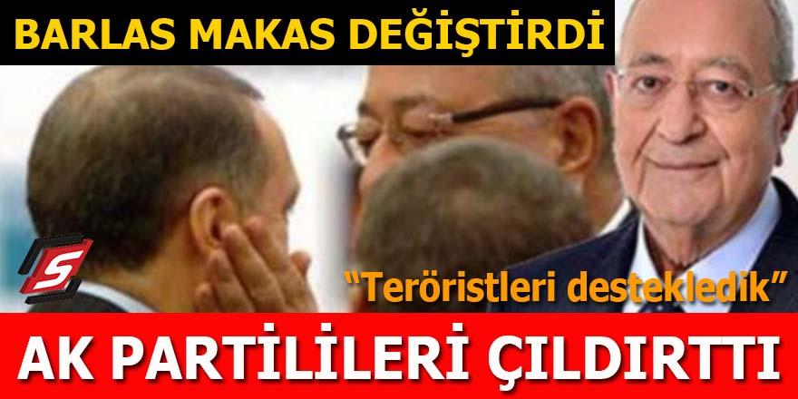 """Barlas """"makas"""" değiştirdi, AK Partilileri çıldırttı: Teröristleri destekledik!"""
