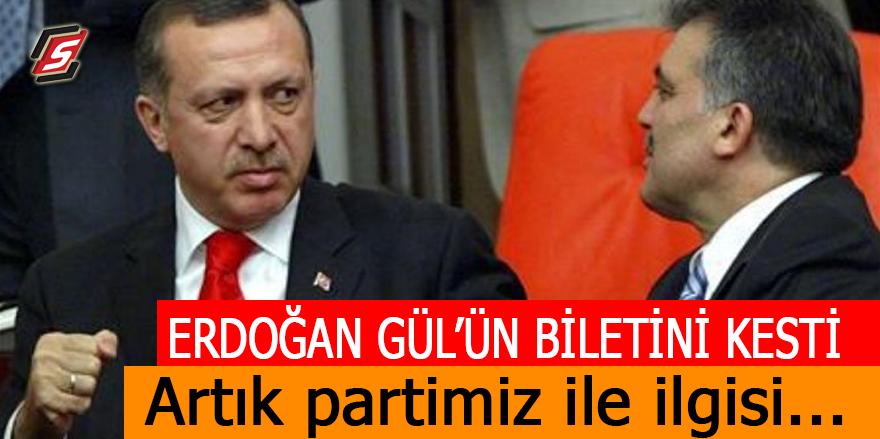 Erdoğan Gül'ün biletini kesti! Artık partimiz ile ilgisi…
