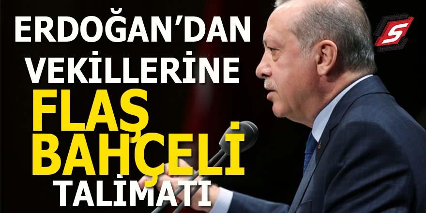 Erdoğan'dan vekillerine flaş Bahçeli talimatı