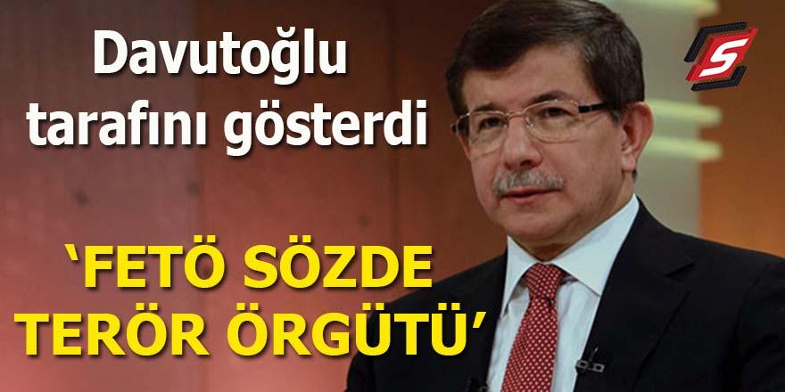 Davutoğlu tarafını gösterdi: FETÖ sözde terör örgütü!