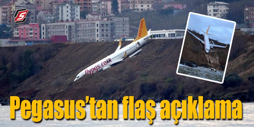 Pegasus'tan flaş kaza açıklaması