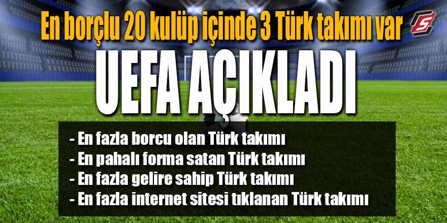 UEFA açıkladı! En borçlu 20 kulüp içinde 3 Türk takımı var