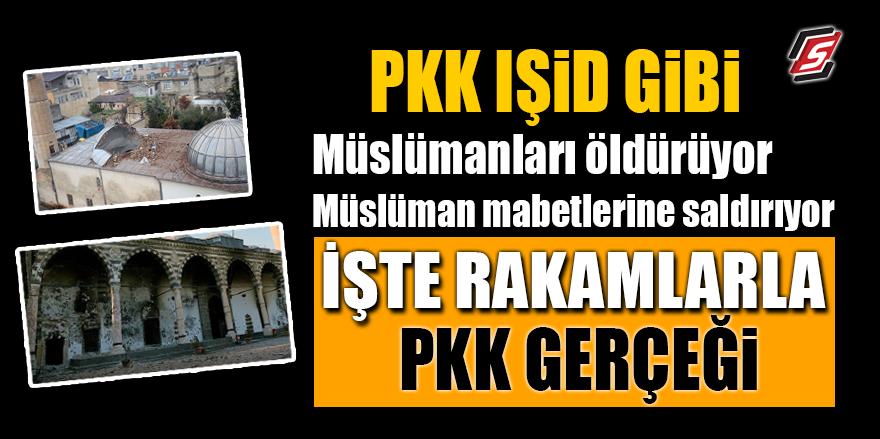 PKK IŞİD gibi.. Müslümanları öldürüyor ve mabetlerine saldırıyor! İşte rakamlarla PKK gerçeği
