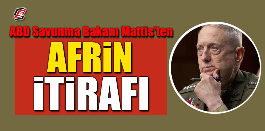 ABD Savunma Bakanı Mattis'ten Afrin itirafı
