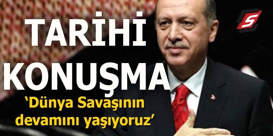 Erdoğan'dan tarihi konuşma: İstiklal Marşını okudu