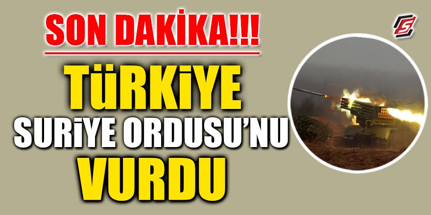 SON DAKİKA! Türkiye, Suriye Ordusunu vurdu
