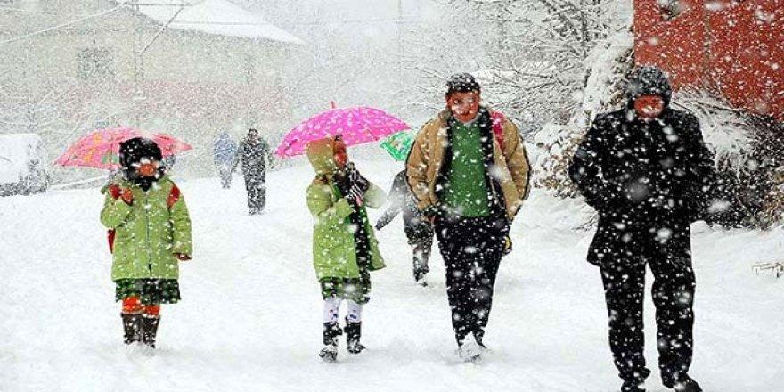 İki ilde okullar kar nedeniyle tatil edildi