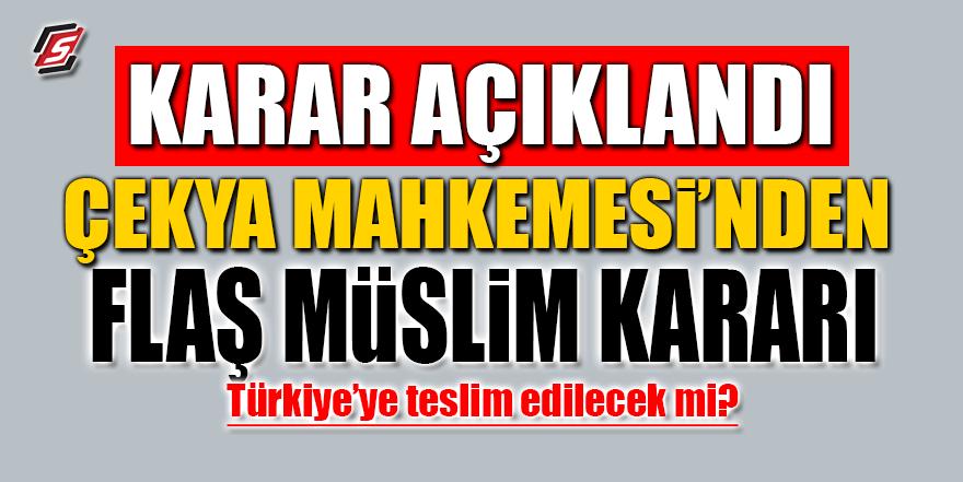 Çekya Mahkemesi'nden flaş Salih Müslim kararı
