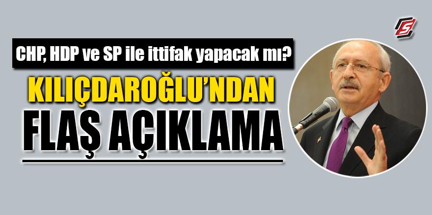 CHP, 'HDP ve SP' ile ittifak yapacak mı? Kılıçdaroğlu'ndan flaş açıklama