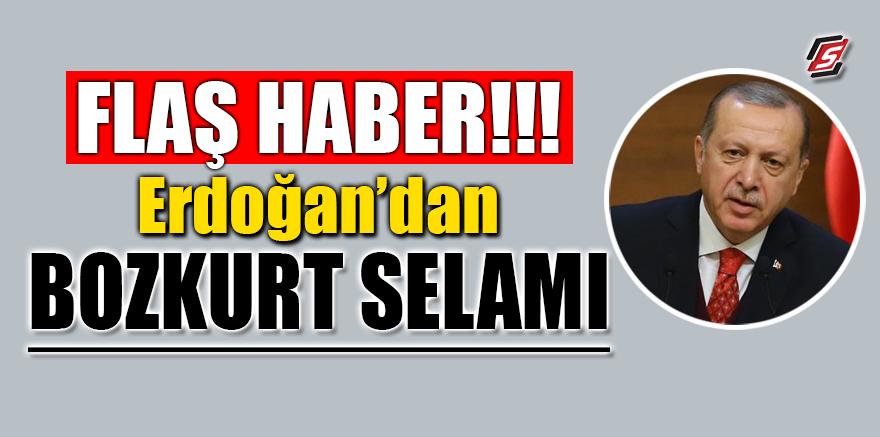 Flaş Haber! Erdoğan'dan 'Bozkurt Selamı'