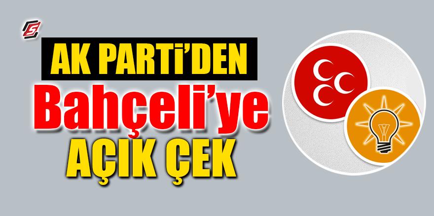 AK Parti'den Bahçeli'ye açık çek