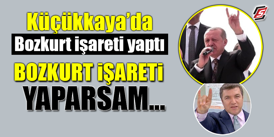 FOX TV sunucusu Küçükkaya'dan Bozkurt İşareti!