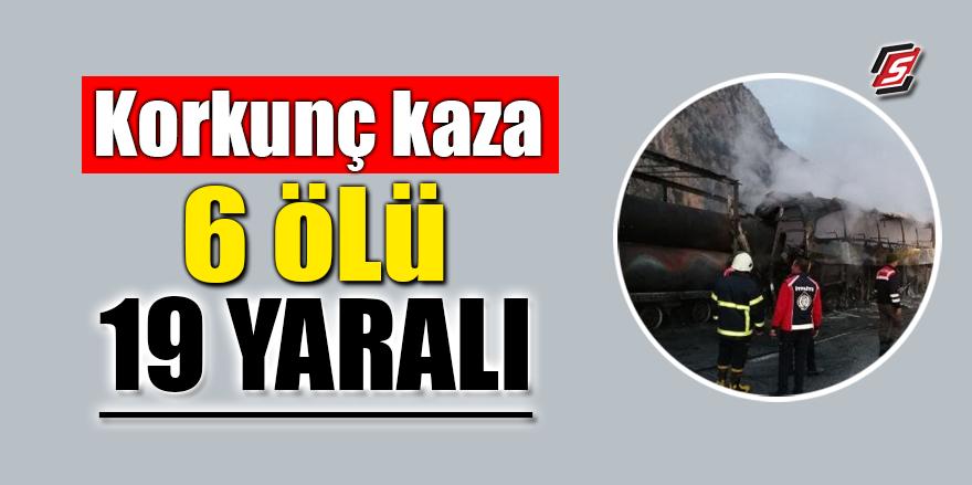 Çorum'da feci kaza: 6 ölü 19 yaralı