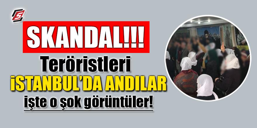 Skandal! Afrin'de öldürülen teröristleri İstanbul'da andılar