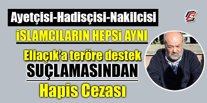 Eliaçık'a teröre destek suçlamasından hapis cezası
