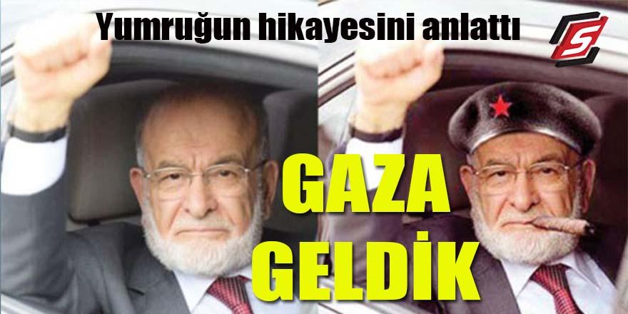 """Karamollaoğlu yumruğun hikayesini anlattı: """"Gaza geldik"""""""