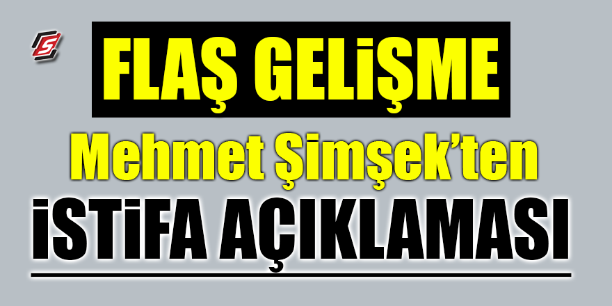 Mehmet Şimşek'ten flaş istifa açıklaması