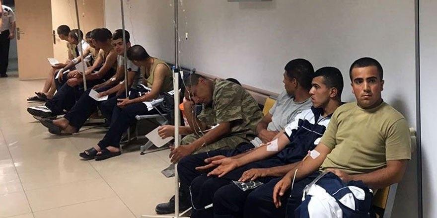 Antalya'da askerler zehirlendi