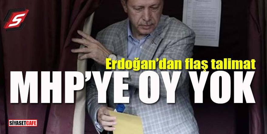 Erdoğan'dan flaş uyarı! 'MHP'ye oy vermeyin'