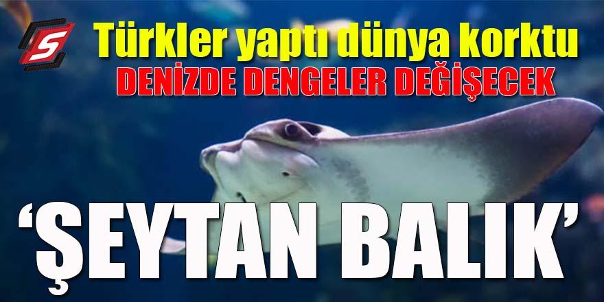 Türkler yaptı dünya korktu: 'Şeytan balık'