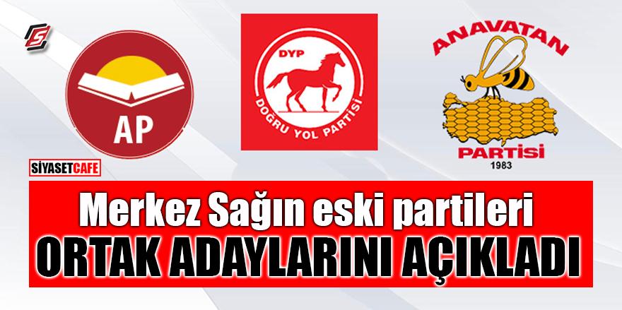 Merkez Sağın eski partileri ortak adaylarını açıkladı