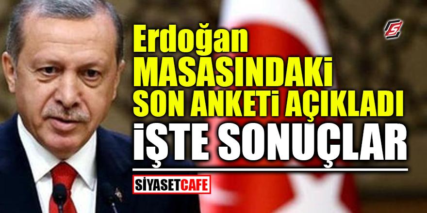Erdoğan masasındaki anketi açıkladı! İşte sonuçlar