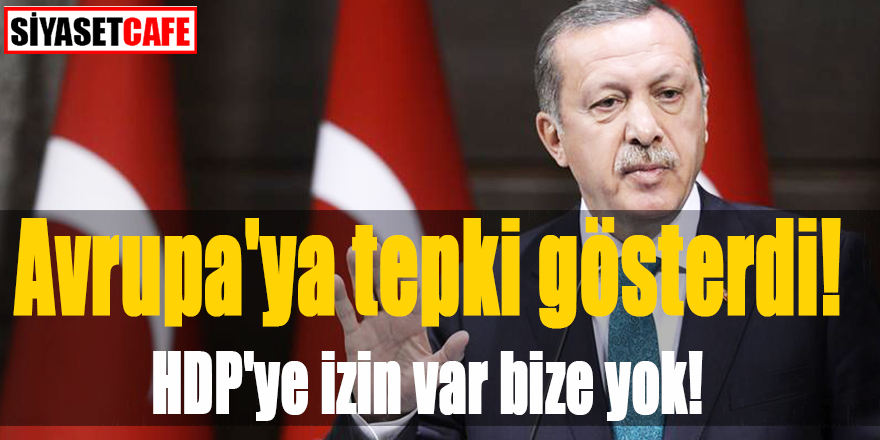 Avrupa'ya tepki gösterdi! HDP'ye izin var bize yok