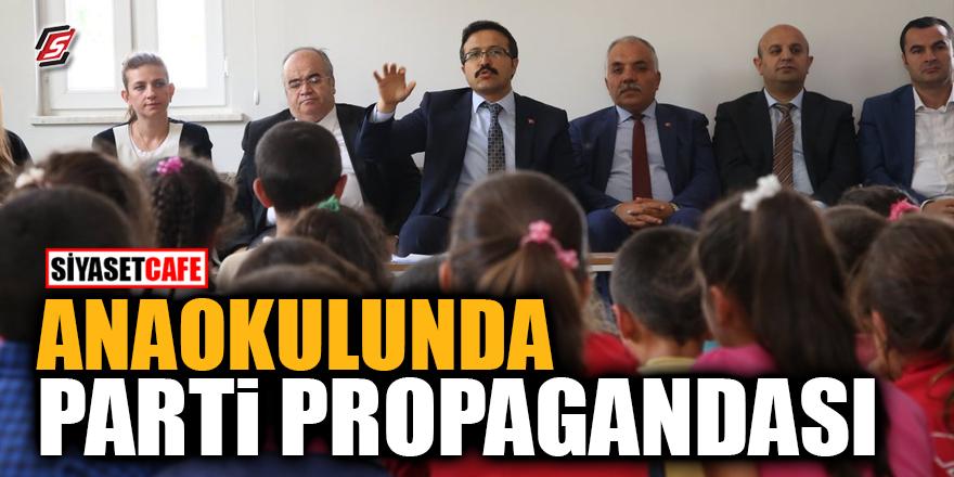 Anaokulunda parti propagandası