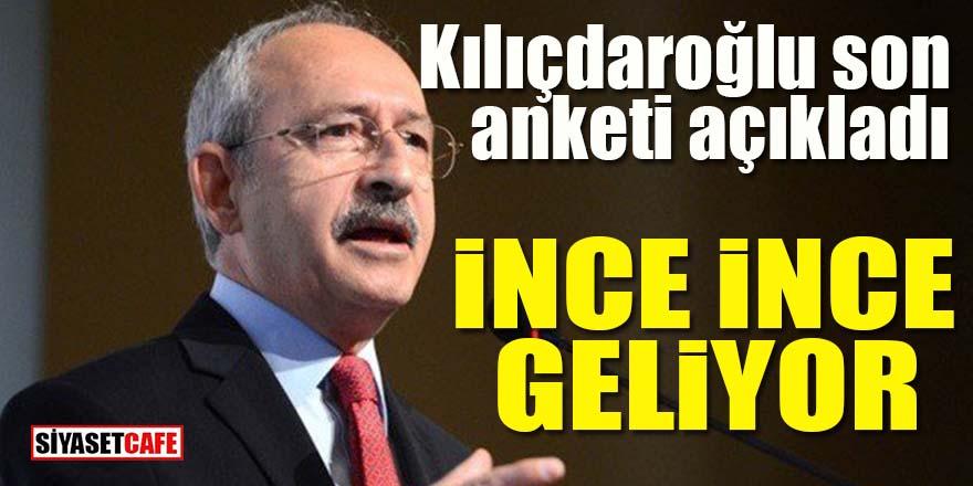 Kılıçdaroğlu son anketleri açıkladı: İnce ince geliyor!