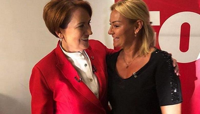 Pınar Altuğ Meral Akşener'le yan yana