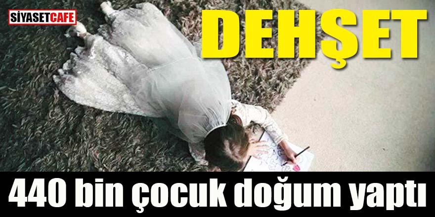 Türkiye'de dehşet tablosu: 440 bin çocuk doğum yaptı