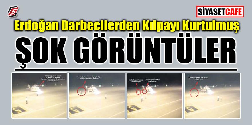 Erdoğan darbecilerden kıl payı kurtulmuş! ŞOK GÖRÜNTÜLER