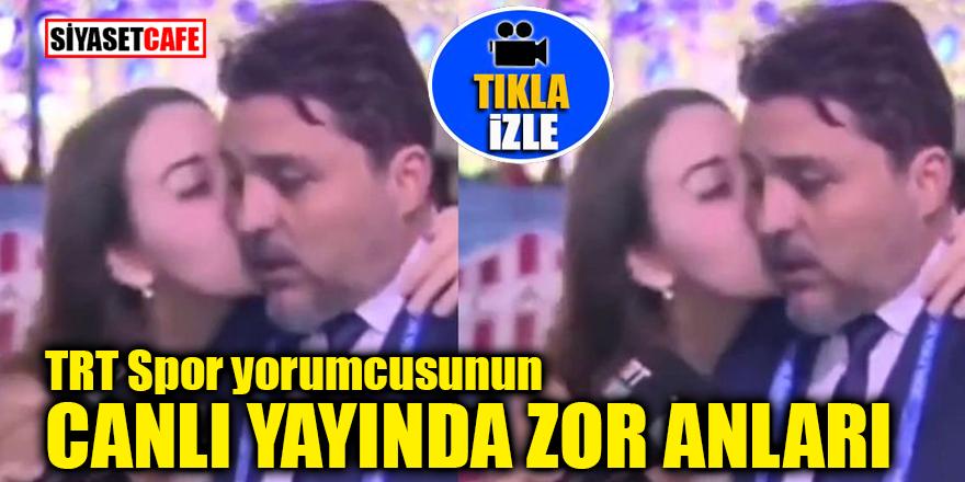 TRT spor yorumcusunun canlı yayında zor anları